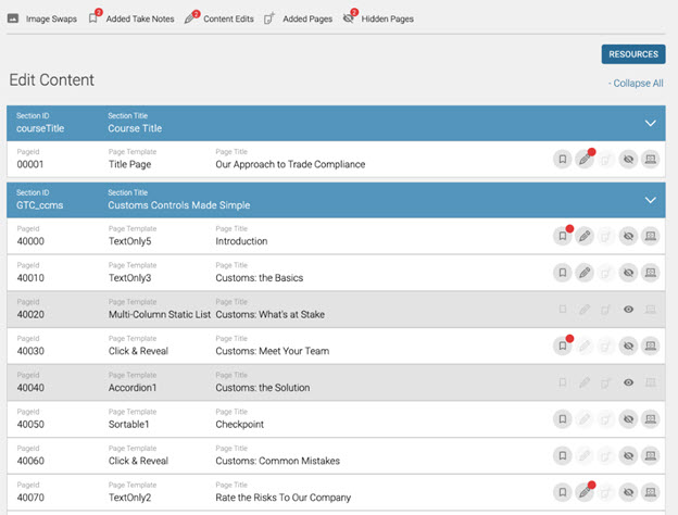 easily customize compliance content