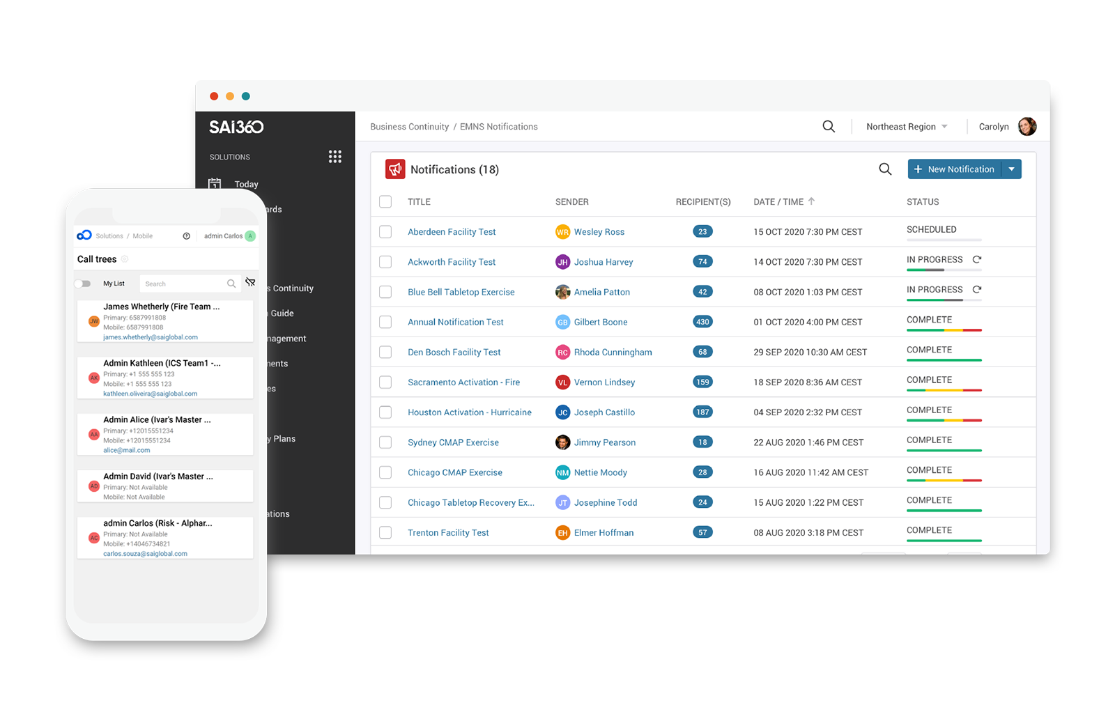Track Business Continuity Plans with Real-Time Dashboards